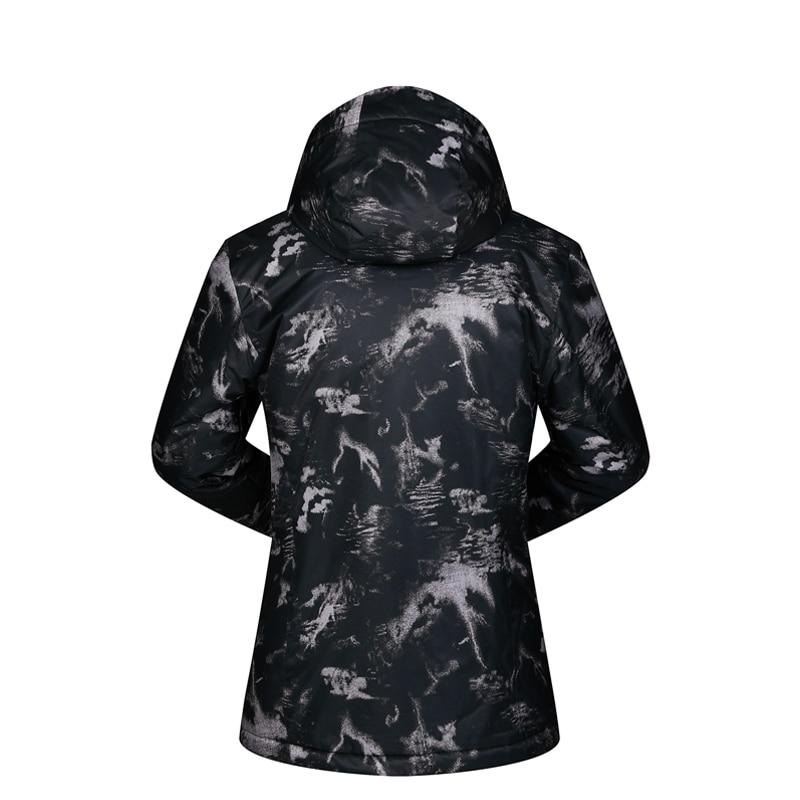 Hommes veste de Ski Ski Snowboard vêtements coupe-vent imperméable à l'eau en plein air Sport porter Super chaud à capuche respirant manteau veste d'hiver - 5