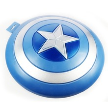 The MOVIE Captain America Blue Shield Ornaments PVC font b Toy b font Figure Cosplay Free