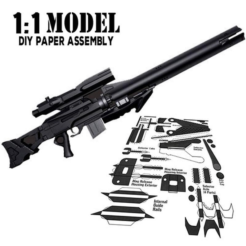 1:1 Appleseed Spielzeug Pistole Modell Papier Montiert Pädagogisches Spielzeug Gebäude Bau Spielzeug Karte Modell Gebäude Sets Ausreichende Versorgung