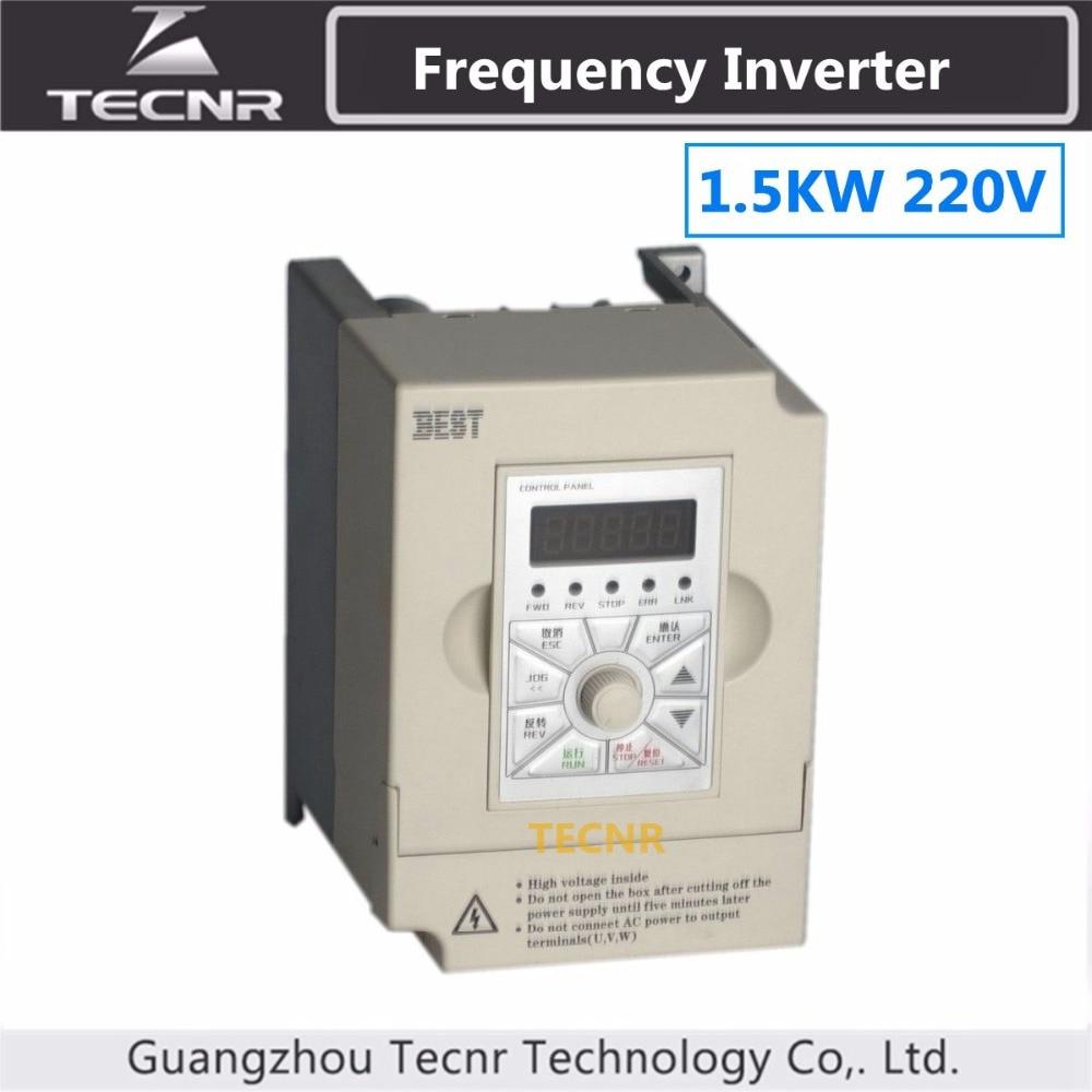 1.5KW VFD inverter 220 V di ingresso uscita 1PH 3PH frequenza inverter mandrino motor driver1.5KW VFD inverter 220 V di ingresso uscita 1PH 3PH frequenza inverter mandrino motor driver