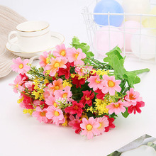 Fake Flower Artificial Silk Daisy Decorative Real Touch Wedding Decoration Floral Bouquet Home Party Garden Supplies
