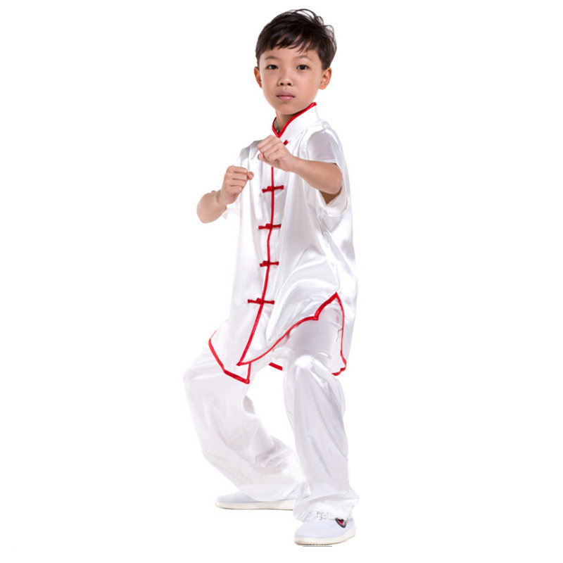G-LIKE Chinese Traditional Clothing Breathable Wushu Martial Arts Kung Fu Suit Kids Tops Pants