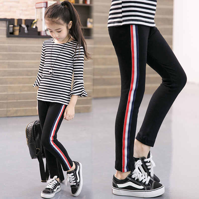 Kids Girl Pants New Fashion Sports Leggings For Girls Solid Color Pencil Pants Kids Leggings Pants Kids Sport Trousers Outwear Aliexpress