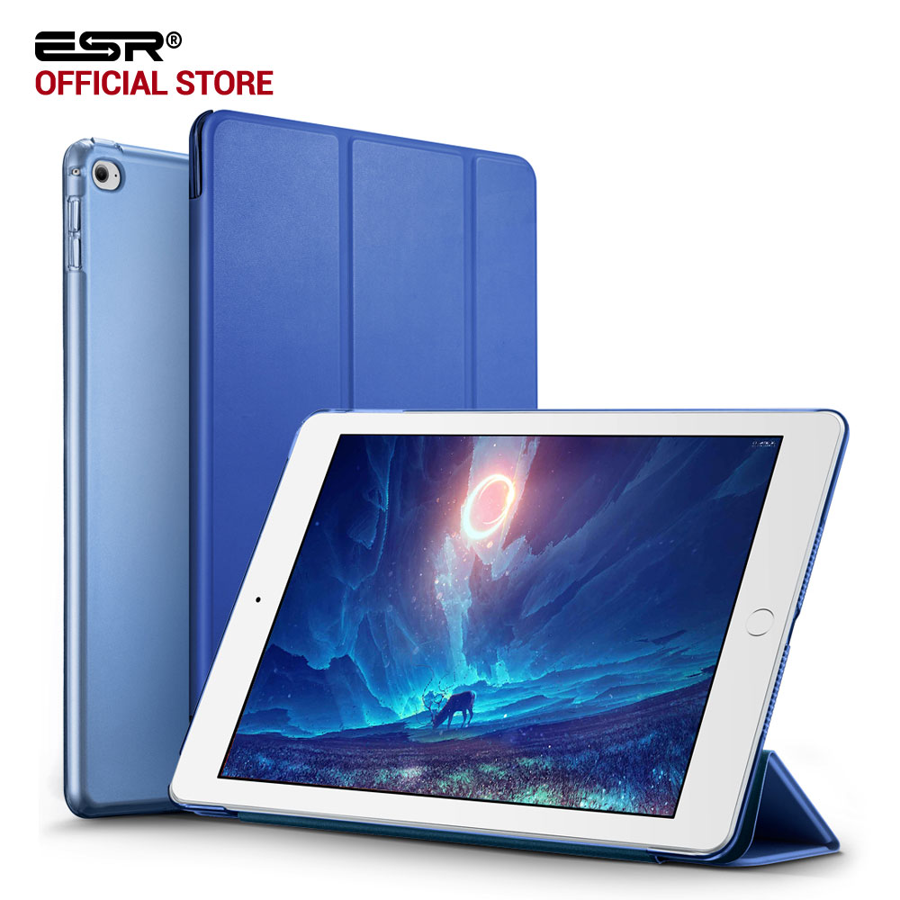 Case untuk iPad mini 4, ESR PU Color Ultra Slim Ringan Tembus PC Kembali Smart Cover Case untuk iPad mini 4 (Rilis 2015)