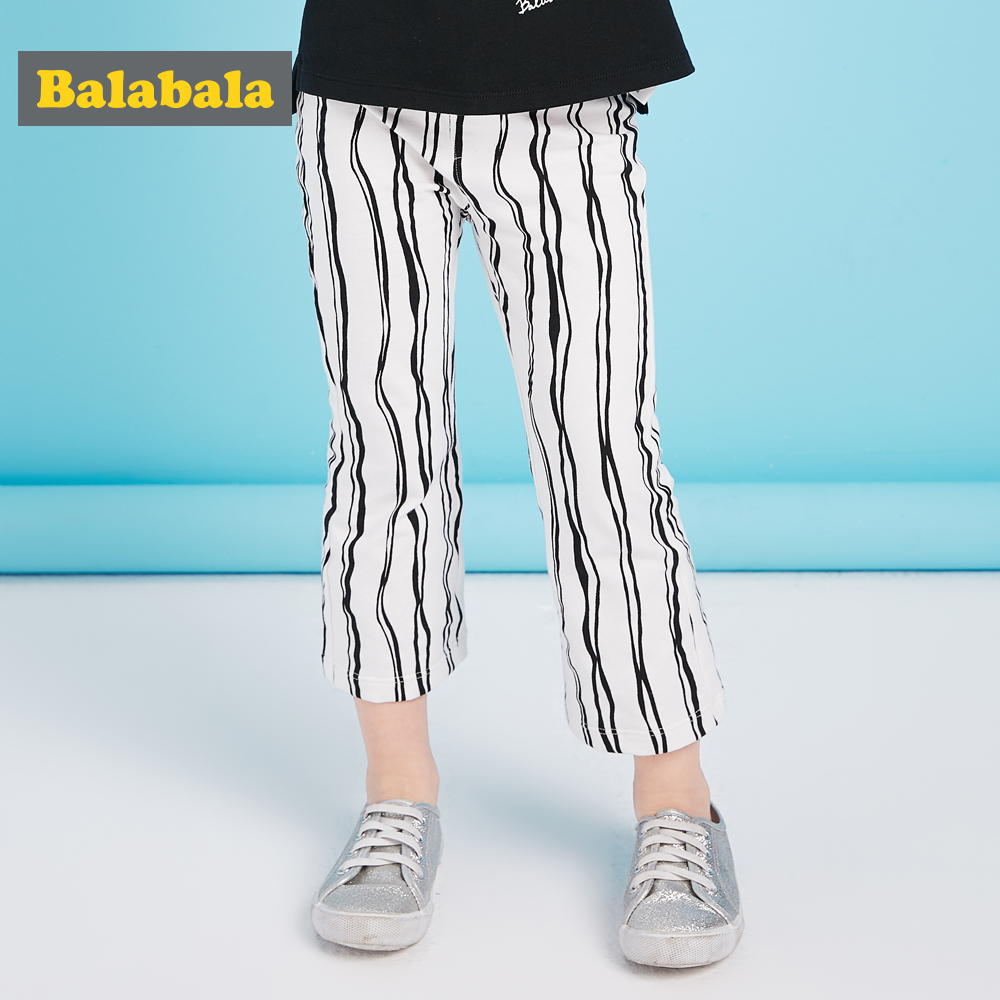 balabala baby girls leggings pants size 80~130cm kids pants for girls casual cotton harem solid customes for bebe girls children