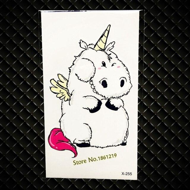 Schöne Cartoon Unicorn Design Temporäre Tattoo Kinder Body Art ...