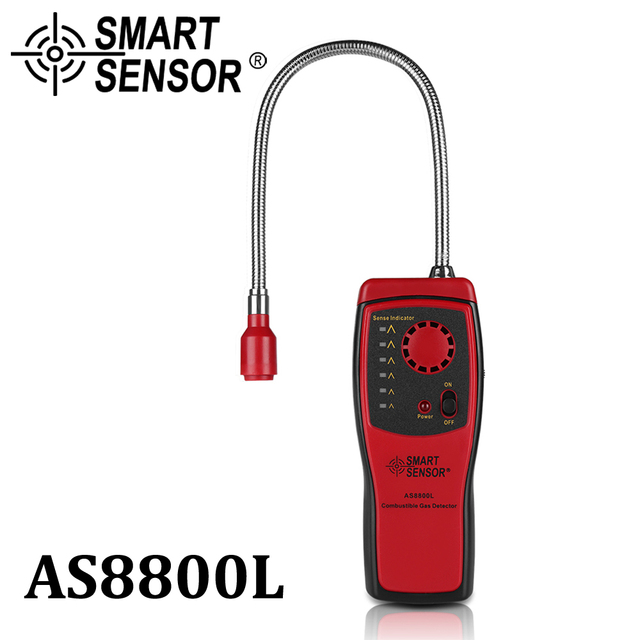 Analyseur de gaz détecteur de gaz Combustible port de fuite de gaz naturel inflammable emplacement déterminer compteur testeur alarme de lumière sonore AS8800L