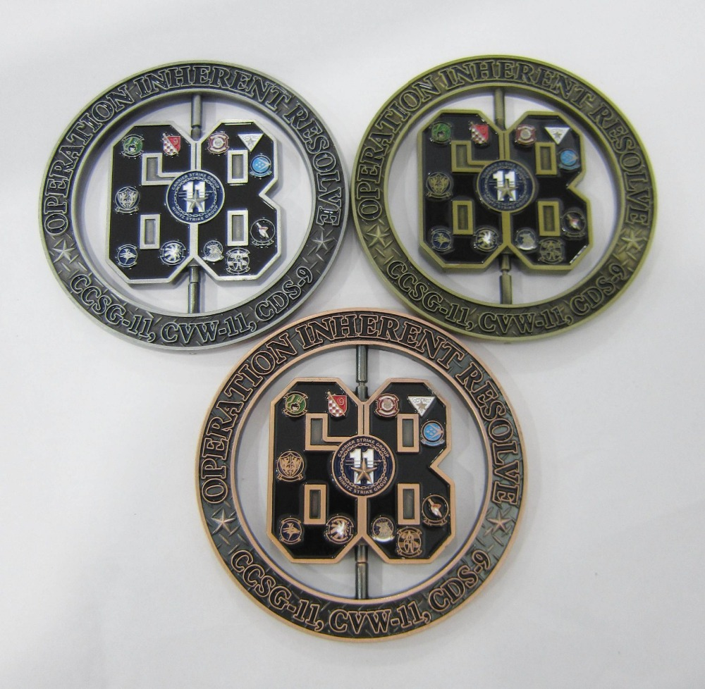 Factory wholesale gold silver and copper coins cheap hollow custom