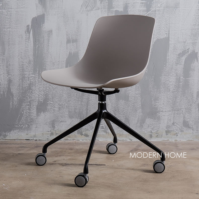Nice Computer Chairs Retro Metal Dining Room Modern Design Plastic And Swivel Office Study Chair Fashion Loft Popular W Or O Wheel Seat