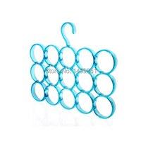 Cabides 15 círculo de uso de multi-purpose cachecol tie rack