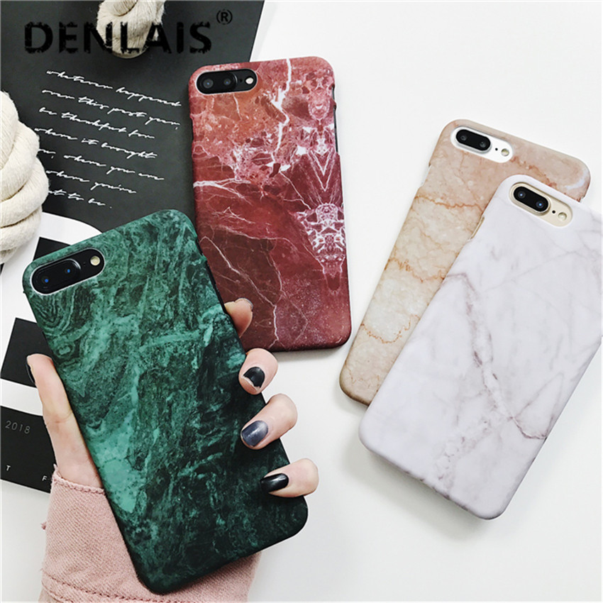 New Fashion Granite Marble Texture Funda Capa Coque Slim Hard Plastic Phone Cases Cover For iPhone 5 5G 5S 6 6G 6S 6Plus 5.5