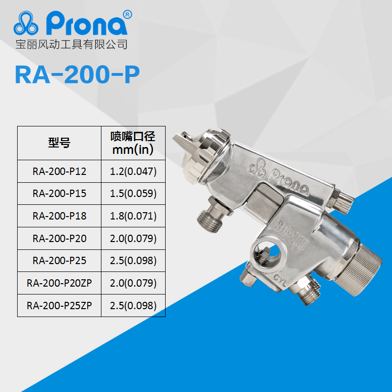 free shipping, prona RA-200 Automatic spray gun, RA200 painting gun, stainless steel nozzle, easy to control