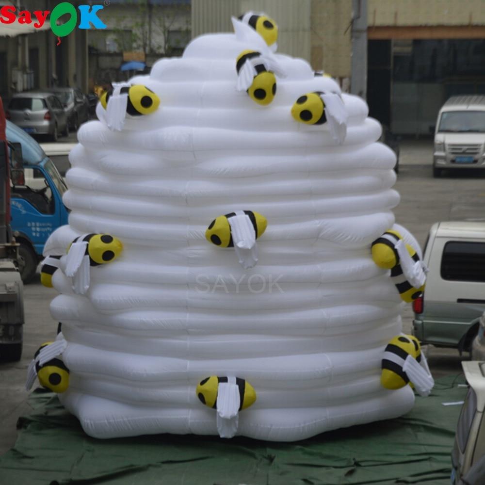 Sayok 5 m haut géant gonflable abeille gâteau modèle gonflable gâteau d'anniversaire modèle pour Dessert magasin publicité Promotions