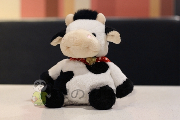 Small Cow Figurine Small Cow Plush Toy Plush Toy Cute Holiday Gift