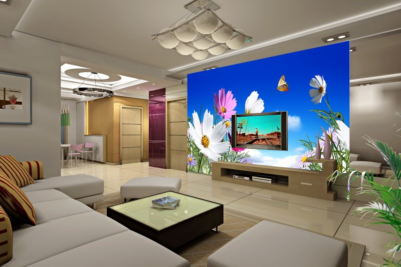 Custom 3d photo clearly colorful Chrysanthemum with blue sky 3d wallpaper useage living room 3d wall paper no smell large mural mukund shiragur d p kumar and venkat rao chrysanthemum genetic divergence