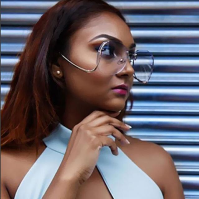 TSHING 2016 New Oversized Round Rimless Sunglasses Women Fashion Optics Big Metal Frame Sun glasses Elegant Female Myopia UV400