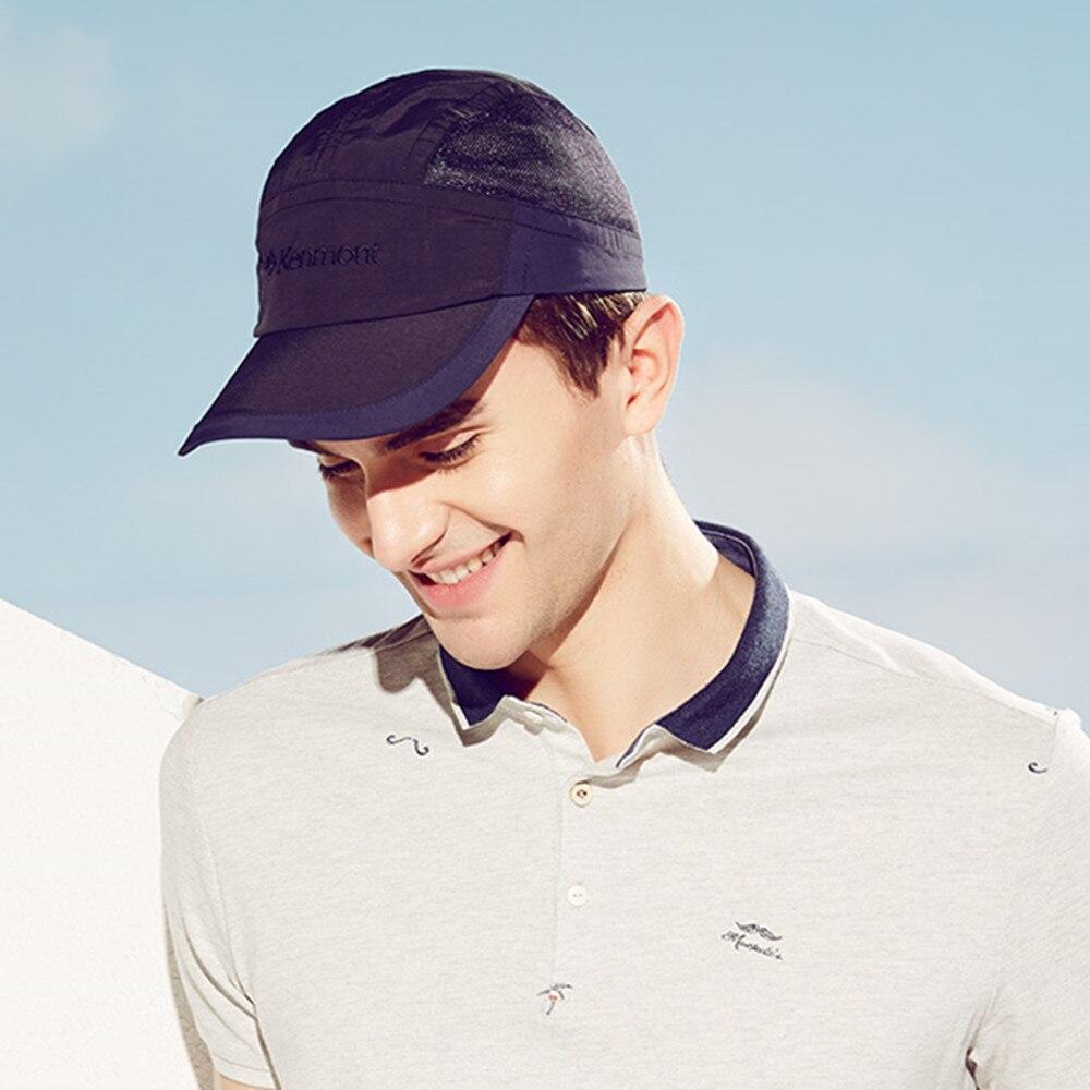 e11d18bc050 Brand Kenmont Summer Men s Baseball Cap Popular Sun Hat Visor Golf Tennis  Caps Patchwork Quick dry Breathable Mesh 3109-in Baseball Caps from Apparel  ...