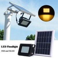 Sensor Waterproof IP65 54 LED Solar Light 3528 SMD Solar Panel LED Flood Light Floodlight Outdoor Garden Security Wall Lamp