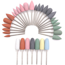 7PCS Silicon Nail Drill Diamond Cutters for Manicure Machine for Manicure Nail Drill Diamond Cutter for Nail Cutter for Pedicure(China)
