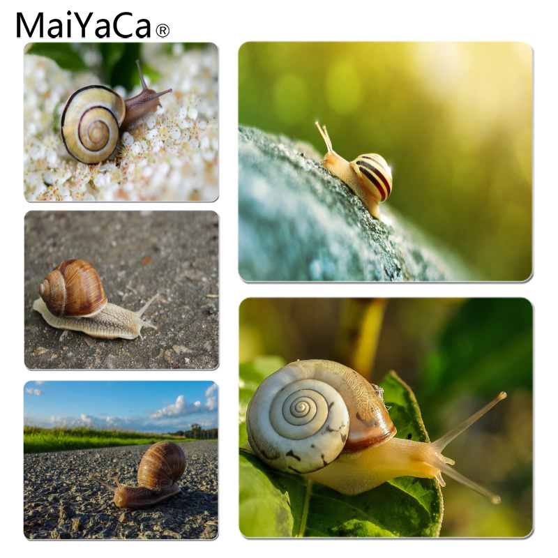 MaiYaCa Peristaltic snail Customized laptop Gaming mouse pad Size for 18X22CM Speed Version Gaming Mousepads