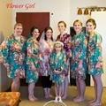 Новый Малыш Шелковый цветочные Халат Кимоно Халаты Невесты Цветочница Платье Дети Халат Пижамы Детская Одежда Халат