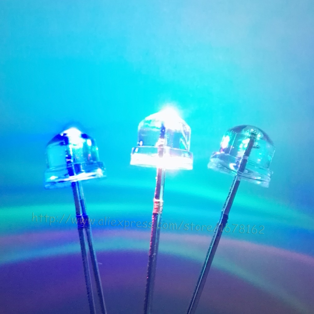 8mm Straw Hat Led: 1000pcs/lot 5mm (Diameter 4.8mm) Straw Hat LED RGB Light