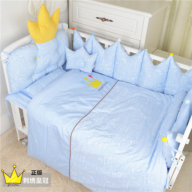 Nordic Style Baby Cotton Embroidered Bedding Set Bed Four Seasons  Baby Bedding Ten Sets Bed Bumper 3