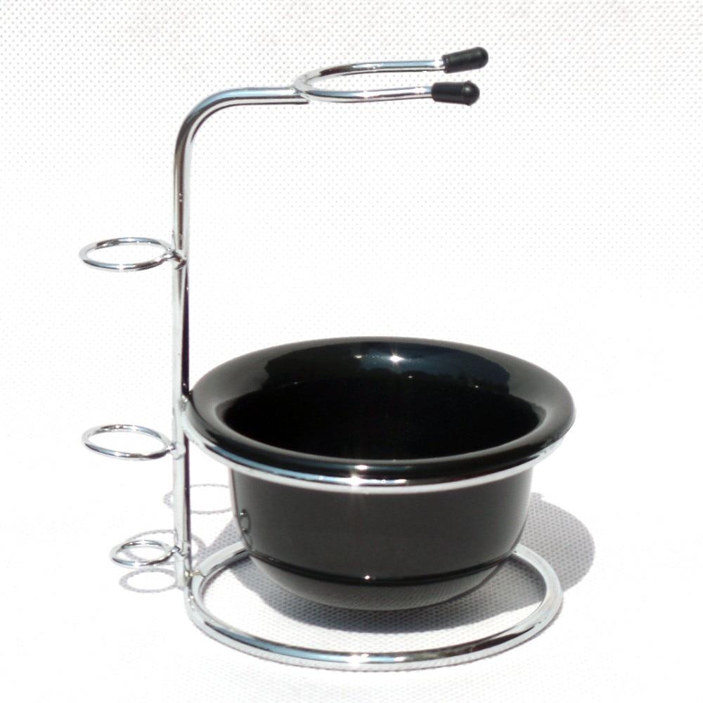 2pc / set Shaving Brush Stand dan Acrylic Beard Soap Bowl