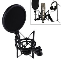 Microphone Mic Professional Shock Mount With Pop Shield Filter Screen Free Shipping OD S