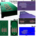 1pc Roulette Game Cloth Layout can be customized with good ablities of flame-proof, water-proof & pollution resisitant.