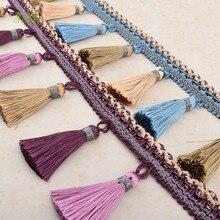 Chainho,1 jardas/lote, franja guarnição tecido de renda, diy acessórios artesanais, artesanato & presente embalagem/cortina & cadeira valance decoração, hb062