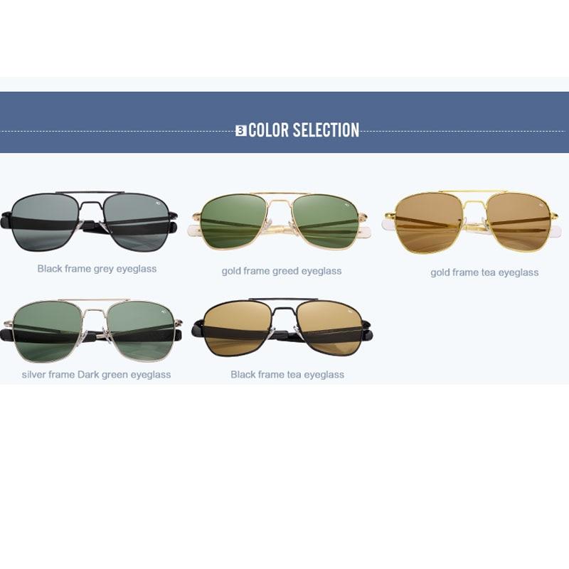 2016 New Army MILITARY AO Sunglasses men women American Optical Glass Lenes  Alloy Frame Quality Sunglasses Oculos De Sol AO8054-in Sunglasses from  Apparel ... 69a5c77c26