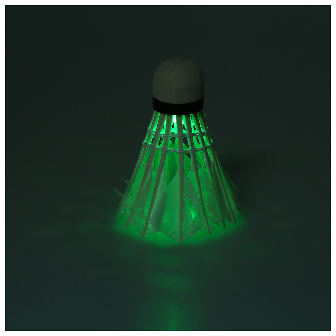 5*Dark Night LED Badminton Shuttlecock Birdies Lighting Green