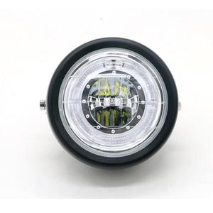 Image 3 - Faro delantero LED modificado para motocicleta, luz auxiliar de instalación sencilla, faro antiniebla Universal superbrillante