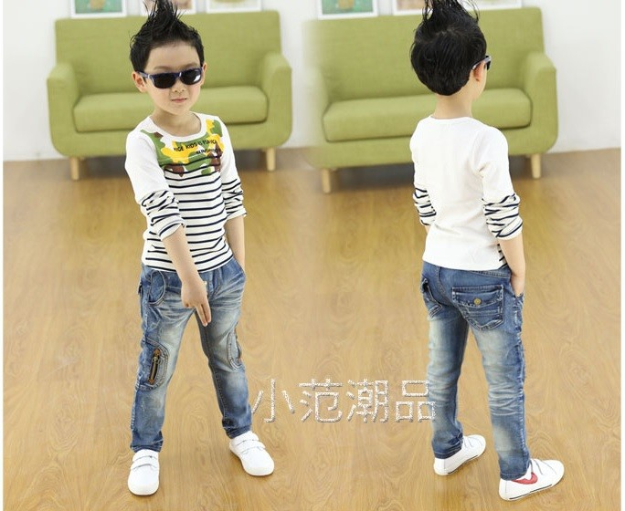 Kids-clothing-2016-Spring-and-Autumn-new-boys-wild-jeans-children-pants
