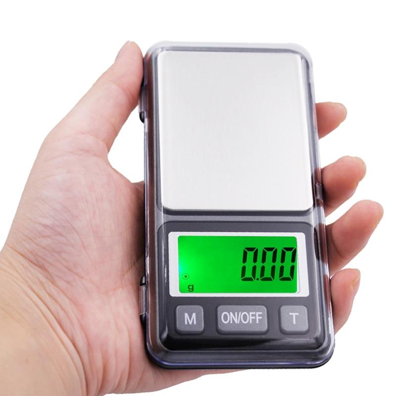 Ferramentas de Bolso Lote Portátil Tela Grande Lcd Peso Escalas Balança Eletrônica 0.01g 500g Jóias Digital Diamante 10 Pçs –