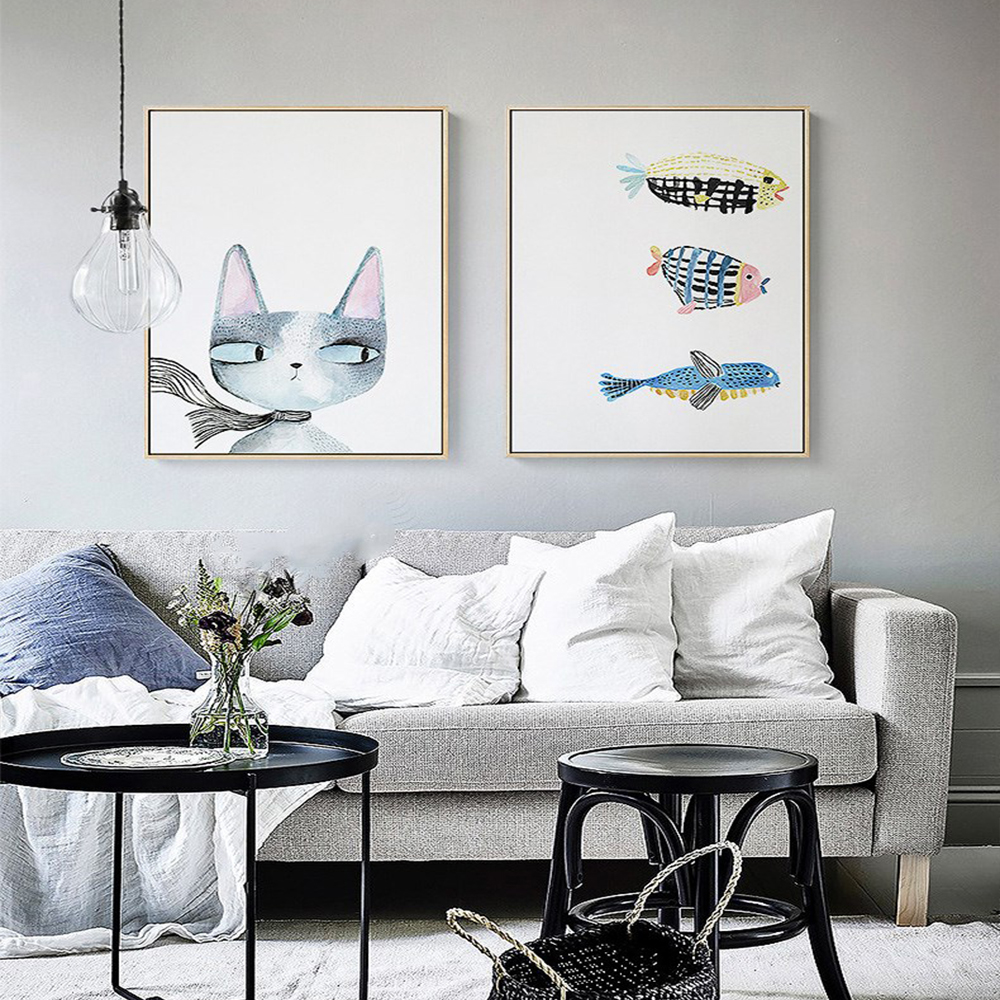 House Decoration Craft Kissing Fish Home Furnishings: Full Diamond Painting 5D DIY Embroidery Square Drill Cat