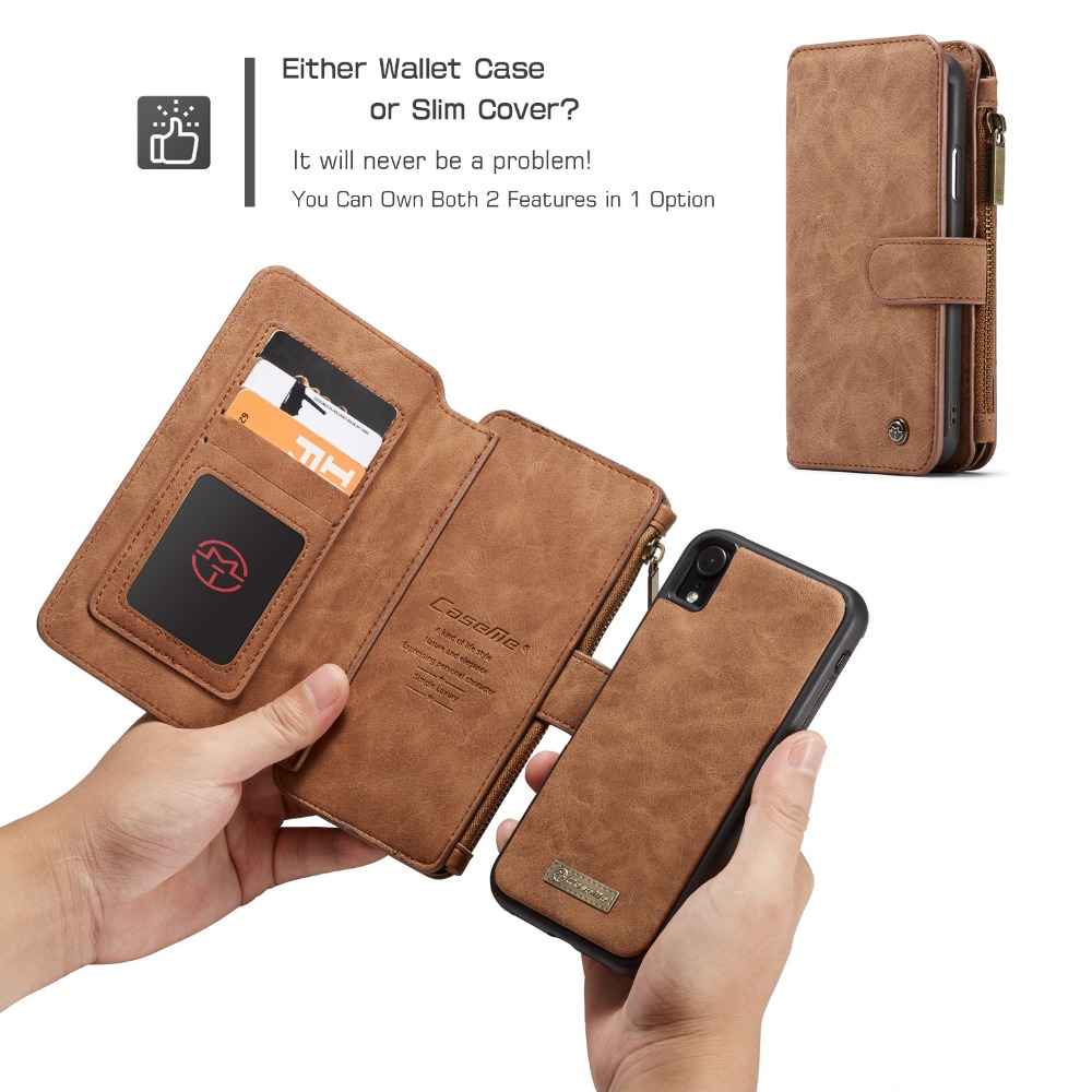 Image 4 - For iPhone 11  Wallet Case 2 in 1 Detachable Magnetic Leather Cover Case for iPhone XS Max iPhone SE 2020 XS 7 7Plus 8 6S CoqueFitted Cases   -