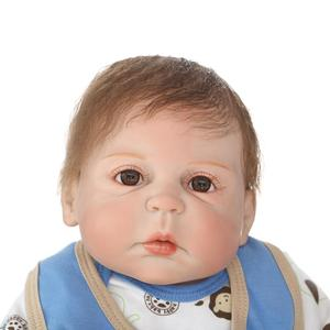 Image 4 - NPKCOLLECTION lifelike reborn baby doll full vinyl silicone soft real gentle touch doll playmate fof kids Birthday gift