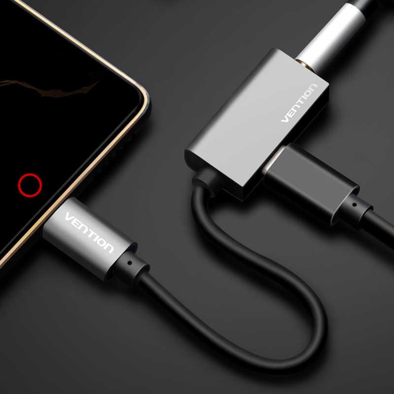 Vention tipo C a 3,5mm auriculares adaptador cargador USB C Aux toma de Cable Audio 3,5 auriculares Convertidor para Xiaomi Mi6 Huawei Mate10