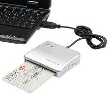 Fácil Comm USB Smart Card Reader IC/ ID Leitor de cartão Adaptador de Alta Qualidade para PC/SC Leitor de Smart Card para Windows Linux os