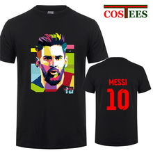 c70a8d7cf 2018 Lionel Messi Shirt Barcelona Men s Short sleeve Messi 10 T-shirt  cotton tshirt Tops Argentina jersey Hipster fans tee shirt