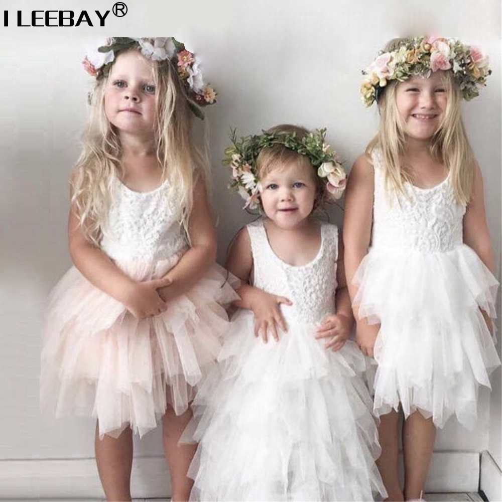 New Arrivel 2018 Cute Princess Tutu dresses for Baby Girls Lace Cake Dress Flower Girl Vestido Fashion Party Clothing for 2-6y