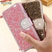 KISSCASE i6 6 S 7 Плюс Coques Блеск Алмазный Бумажник Стенд Кожаный Чехол для iPhone 6 6 S Плюс Для iPhone 7 7 Плюс Крышка Карты слот