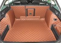 fiber leather car trunk mat cargo mat for skoda octavia 2013 2014 2015 2016 2017 2018 2019 car accessories