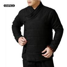 Новый Мужской Хлопка Мягкий Парка Зимняя Куртка Белье Хлопок Пальто Мужчины Китайский Стиль Теплый Моды Случайные Куртка Пальто Q393