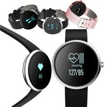 Smarcent Bluetooth Smart Браслет часы-пульсометр крови Давление фитнес-трекер Шагомер спортивный браслет NFC часы