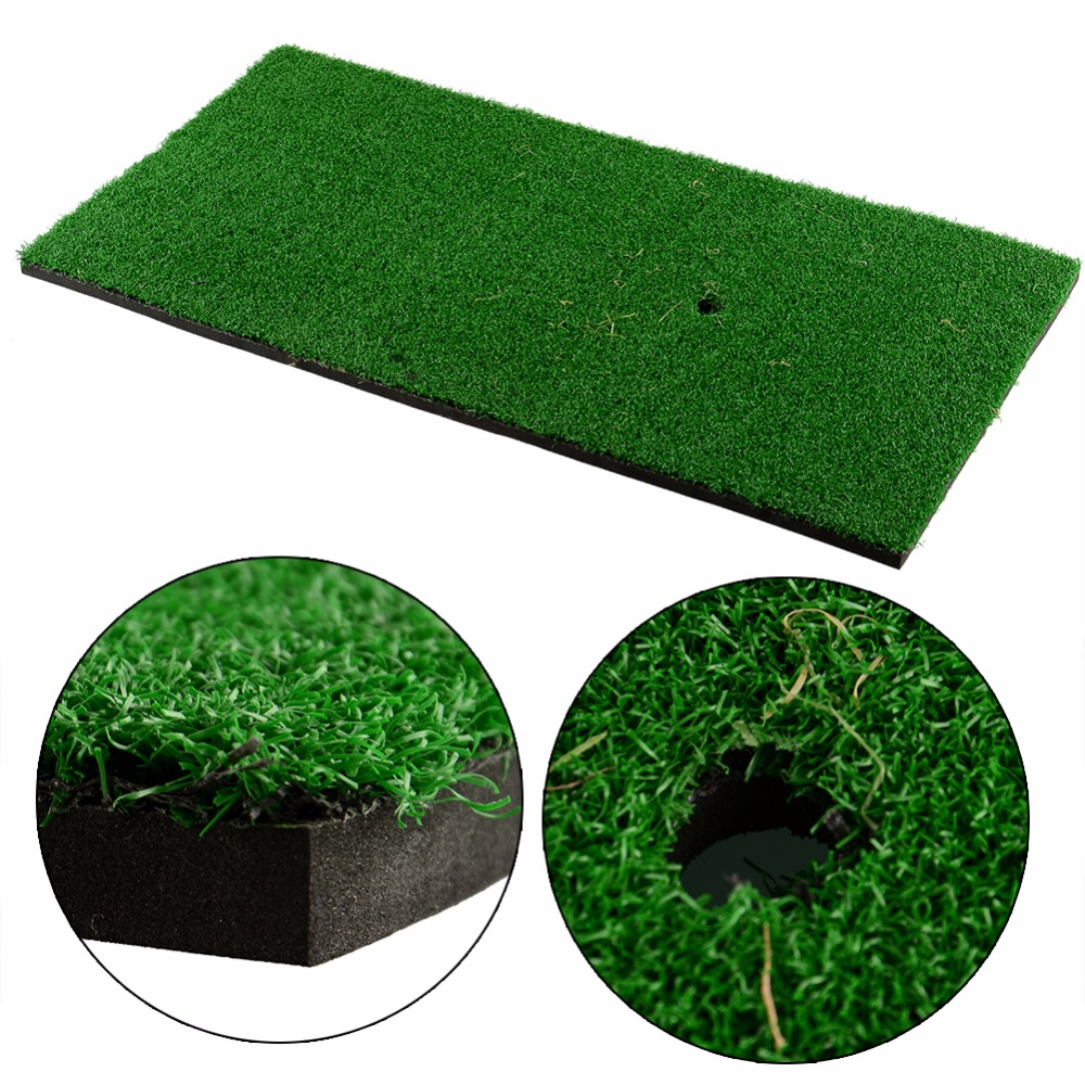 "Golf Mat 60x30cm 12""x24"" Backyard Residential Training Hitting Pad Practice Rubber Tee Holder Drop Shipping"