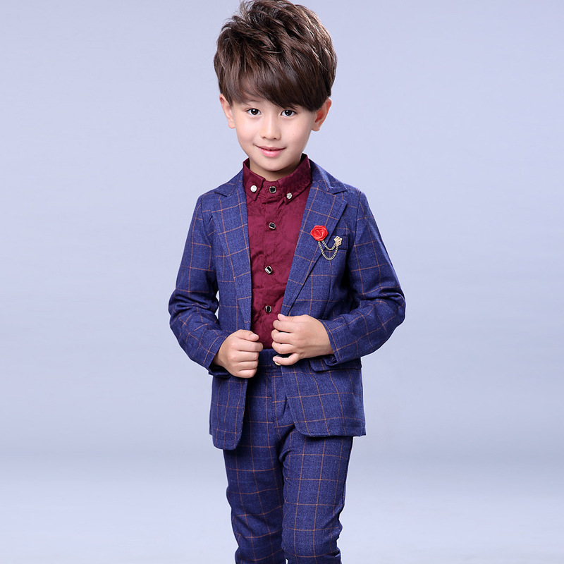 New Arrival Boys Wedding Suit Formal Suit For Boy Kids Wedding Suits Blazer Jacket +Pants +Shirts Wedding Boy 3Pcs Set H48 2017 new children suit baby boys suits kids blazer boys formal suit for wedding boys clothes blazer pants 2pcs 3 12y