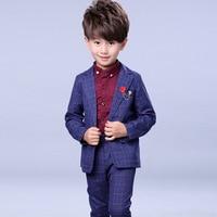 New Arrival Boys Wedding Suit Formal Suit For Boy Kids Wedding Suits Blazer Jacket +Pants +Shirts Wedding Boy 3Pcs Set H48